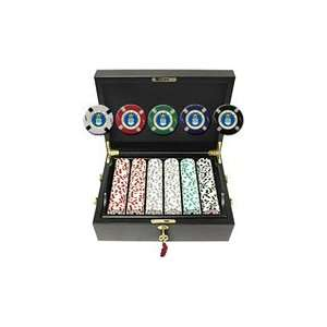 Force Seal 500 Poker Chips Set in Elegant Mahogany Case: Sports