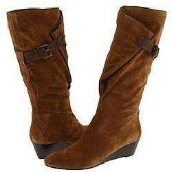 Nine West Yoursocute Natural/Medium Brown Suede Boots