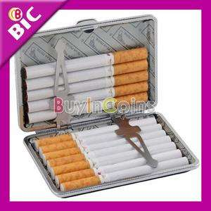 14 X Black Cigarette Box Case Holder Metal Leather Gift