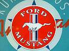 classic FORD MUSTANG retro logoed porcelain coated metal sign