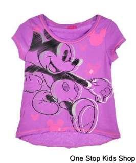 MICKEY MOUSE Girls 6 6X 7 8 10 12 14 16 Short Sleeve Top SHIRT Disney