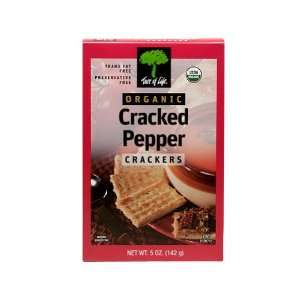 Tree Of Life, Cracker Cracked Pepper: Grocery & Gourmet Food
