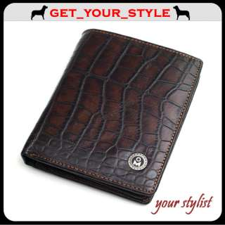 New Mens Cowhide Leather Wallet Zipper Coin Purse ★HOT★