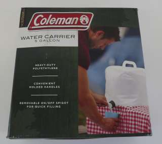 New Coleman Heavy Duty Camping 5 Gallon Water Carrier Jug Polyethylene