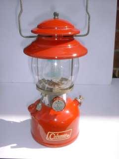 Vintage Original 1965 Red Coleman Lantern Stove Co. Mantle Lamp 200A