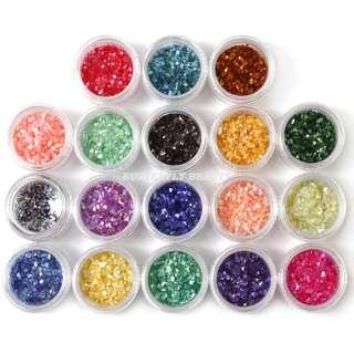 18 Colors Crushed Shell Powder Decoration Nail Art B30