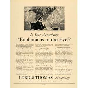 Ad Advertising Lord Thomas Beethoven Euphonious   Original Print Ad