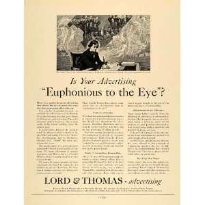 Ad Advertising Lord Thomas Beethoven Euphonious   Original Print Ad