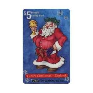Card $5. 1995 Santa Father Christmas   England