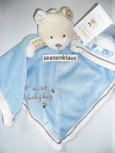 NWT Carters Little Collection Sweet Baby Boy Bear Security Blanket