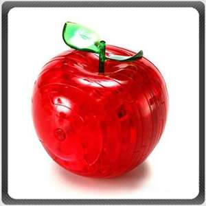 3D Crystal Apple Jigsaw Puzzle IQ Toy Model Decoration