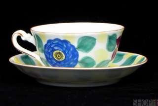 Phoenix China Czechoslovakia Floral Tea Cup & Saucer