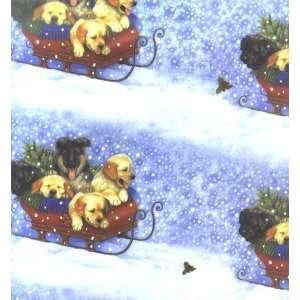 Sleighdogs (Lab & German Shepherd Puppies) Christmas Wrap
