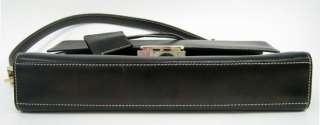 AUTHENTIC GUCCI BLACK LEATHER PURSE+MIRROR/DUST BAG NR