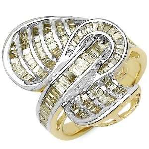 1.68 Carat 14K Gold Plated Genuine Diamond Accents