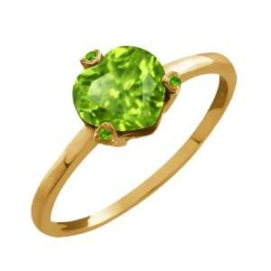 1.42 Ct Genuine Heart Shape Green Peridot Gemstone 14k