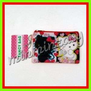 Hello Kitty Angel Figure Glitter Coin Bag Case Wallet $