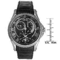 Seiko Mens Kinetic Premier Chronograph Black Dial Watch