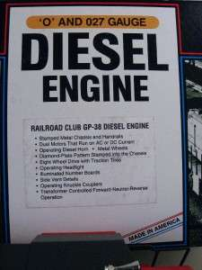 RAILROADER CLUB 1992 SPECIAL EDITION GP 38 DIESEL ENGINE ~ C 8 ~ SUPER