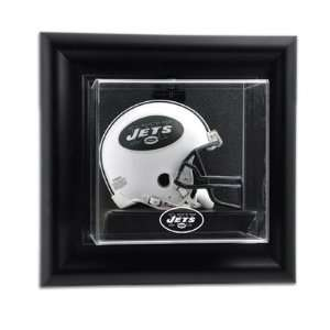 New York Jets Wall Mounted Mini Helmet Display Case