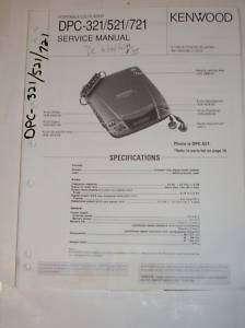 Kenwood Service Manual~DPC 321/521/721 CD Player