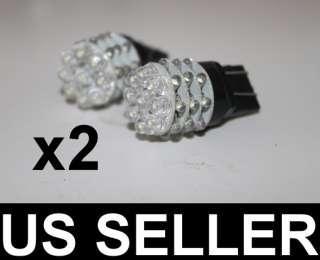 2x 7440 7443 T20 36 LED Brake Turn Light Bulbs White