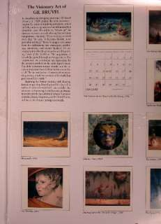 1997 calendar new Visionary Art Gil Bruvel fantasy art