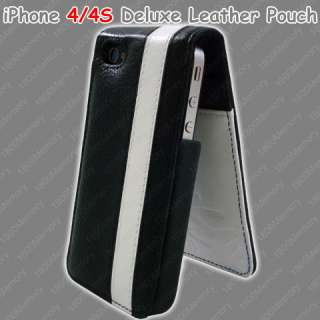 GENUINE Mossimo Deluxe Leather Pouch for Apple iPhone 4 S 4S Black