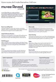 NEW muvee Reveal 8 DVD slideshow video editing software