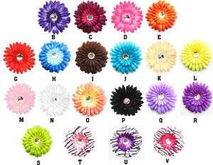 LOT 20 PCS 4 Crystal Gerber Daisy Flower Clip Dnf