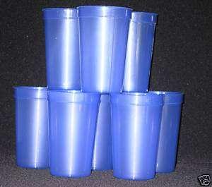 10 20oz TRANSLUCENT PURPLE PLASTIC DRINKING GLASSES CUP