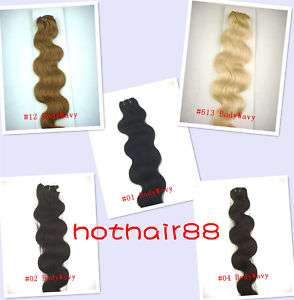 More Color 7pcs BW 2080g Human Hair Clip In Extension