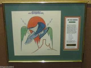Vintage Old Eagles On Th Border Framed Album & Cover