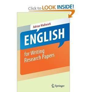English for Writing Research Papers byWallwork: Wallwork