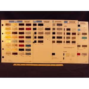 FORD MOTOR COMPANY & MERCURY Paint Colors Chip Page Ford Motor