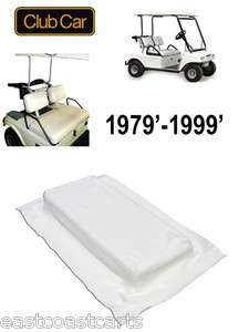 Club Car DS Golf Cart 1979 1999 WHITE Seat BOTTOM Cover 1015627 (Free