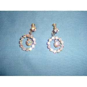 Vintage Aurora Borealis Rhinestone Earrings Everything