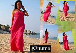 Strapless smocked long Maxi Sun Beach dress S M L XL 2XL Plus size