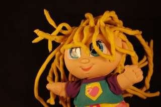 13 Curly Qs Crazy Blonde Hair Plush Lovey Doll Toy