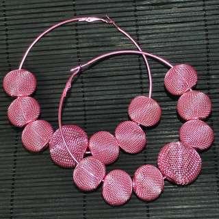 NEW Bling Hoops Rhinestone Basketball Wives Earrings+Gift Box M004