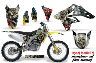 AMR RACING MOTORCROSS GRAPHIC STICKER WRAP SUZUKI RMZ 250 07 09 IRON