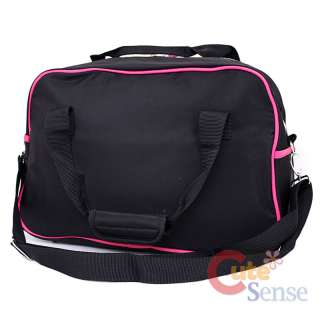 Sanrio Hello Kitty Duffle Bag Travel Gym Bag Large Face Black Pink
