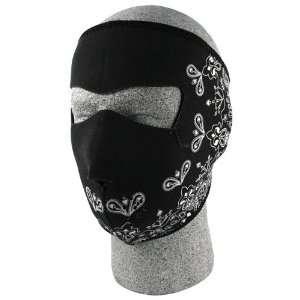 Zan Headgear Paisly Mens Full Face Mask On Road Motorcycle Helmet
