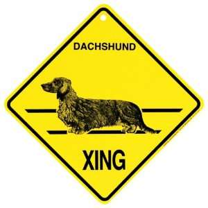 long haired Xing caution Crossing Sign dog Gift: Pet Supplies