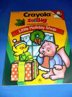 Crayola So Big Little Holiday Shop Xmas Coloring Book