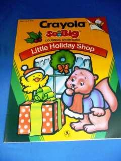 Crayola So Big Little Holiday Shop Xmas Coloring Book