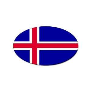 Iceland Flag oval sticker