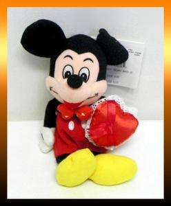 VALENTINES DAY MICKEY MOUSE 8 Bean Bag Plush Doll *NEW
