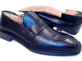 Salvatore Ferragamo Mens SILENZIO Black Dress Shoes Loafers 9.5 D
