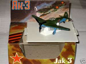 WW2 Russian Airplane YAK 3 Diecast 1/72 Soviet USSR Rar